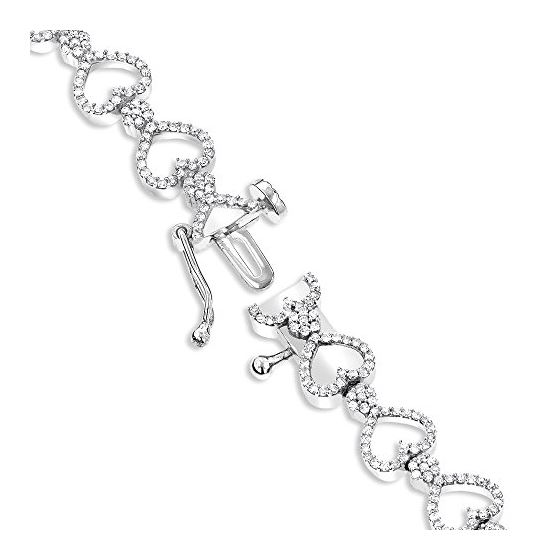 14K Gold Diamond Heart Bracelet (1.6 Ctw, H-I Co-2