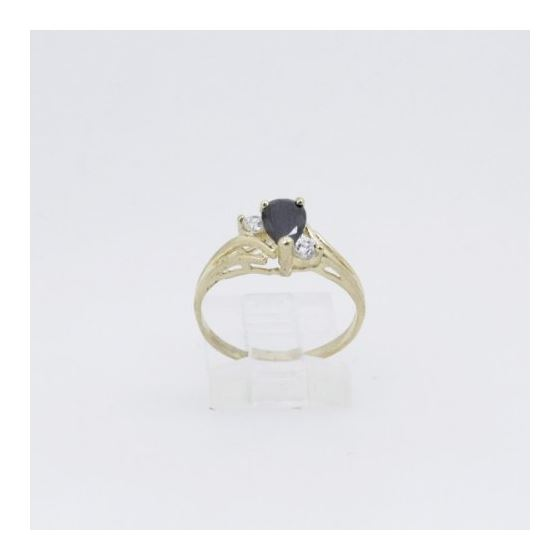 10k Yellow Gold Syntetic black gemstone ring ajr28 Size: 6.75 2