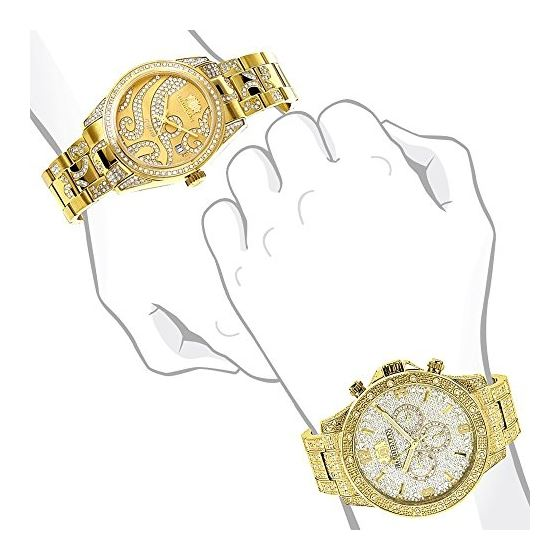 His And Hers Watches: Diamond Watch Set Yellow G-4
