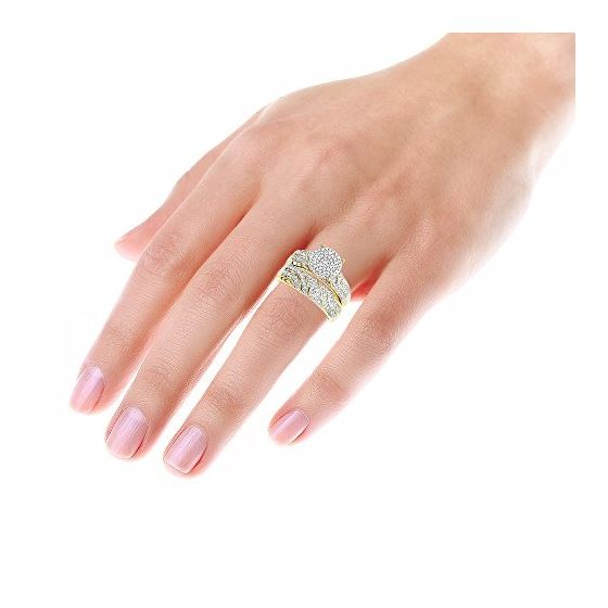 10K Gold Round Diamond Engagement Ring Wedding B-4