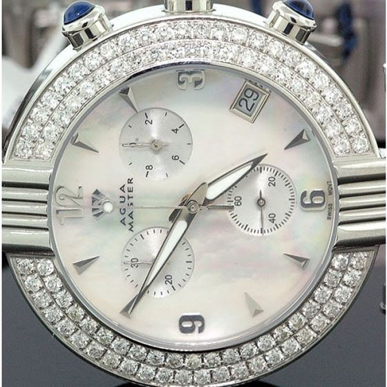 Ladies Aqua Master Diamond Watch 2.80 ct w-94b 2
