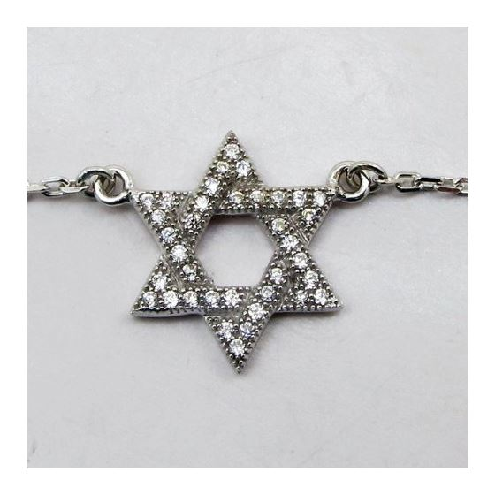 Womens Sterling silver Jewish star of david pendant necklace 2