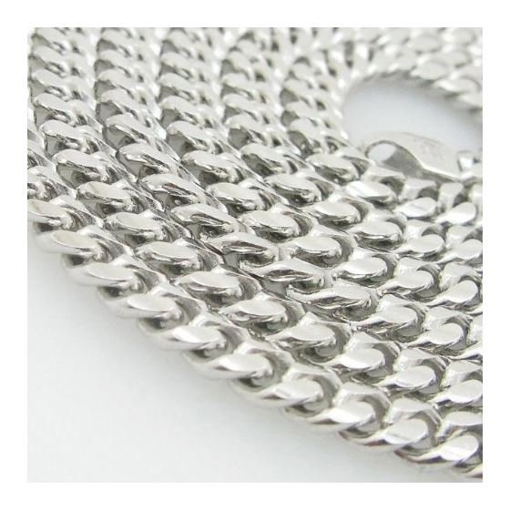 Mens .925 Italian Sterling Silver Cuban Link Chain Length - 34 inches Width - 5mm 2