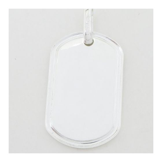 Plain dog tag pendant SB20 38mm tall and 20mm wide 4