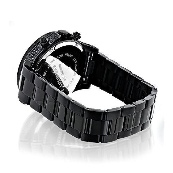 Black Diamond Watches: LUXURMAN Mens Diamond Wat-2