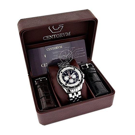 Centorum Real Diamond Watch Mens White M 89642 4