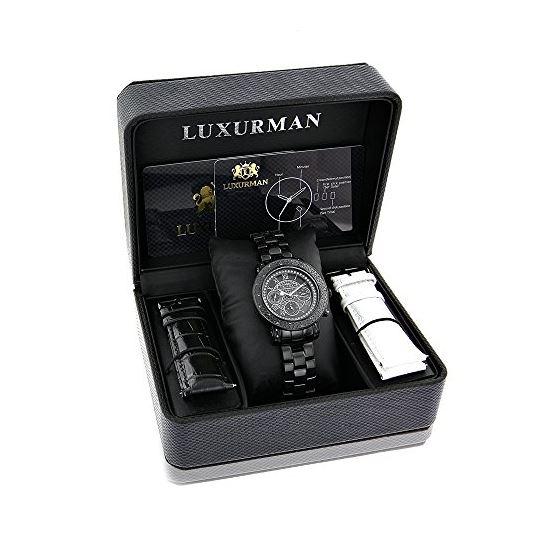 Mens Ladies Diamond Watches: Luxurman Bl 90939 4