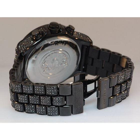 Joe Rodeo Watches Mens Black Diamond Watch Pilot 27.70 4