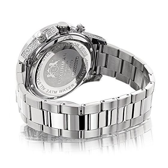 Celebrity Liberty Genuine Diamond Watch for Men 0.5ct Swiss Movt by Luxurman 2