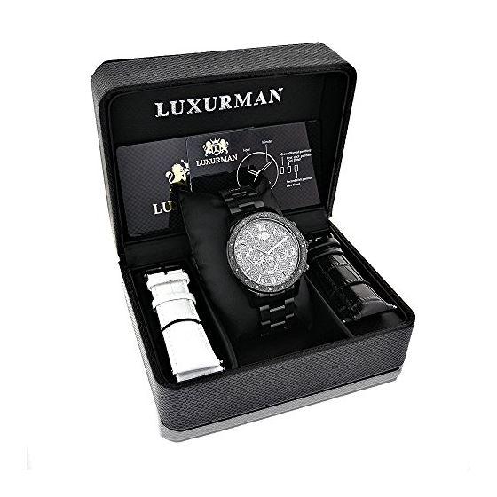 Liberty Black Diamond Watch For Men 1/4Ctw Of Di-4