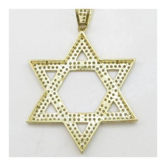 Mens 10k Yellow gold Star of david gold cz pendant GCHA33 4