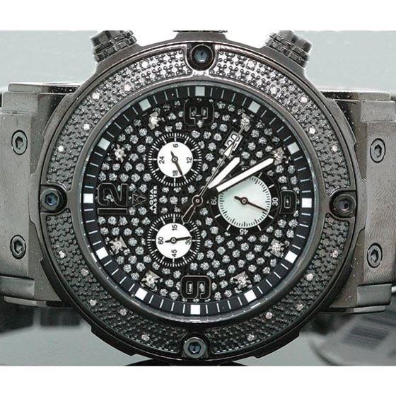 Aqua Master Mens Diamond Watch 0.20ct w-146a 2