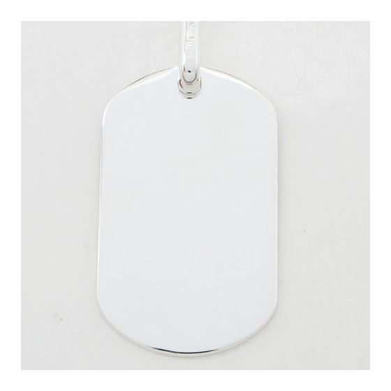 Plain dog tag pendant SB18 38mm tall and 19mm wide 4