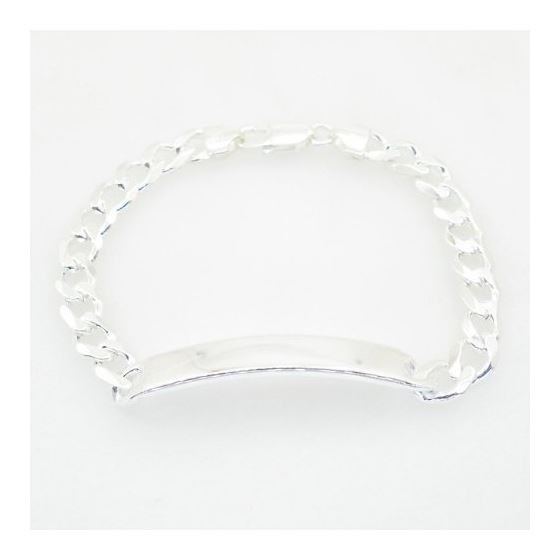 Curb Link ID Bracelet Necklace Length - 7.5 inches Width - 7.5mm 2
