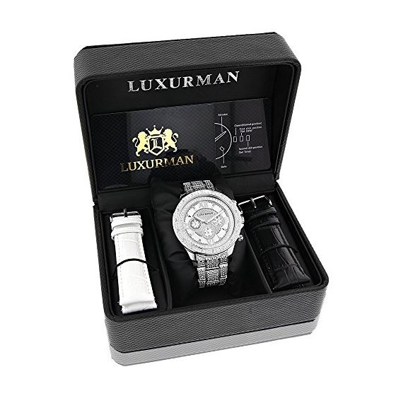 Diamond Bezel And Band Watch For Men 1Ctw Of Dia-4