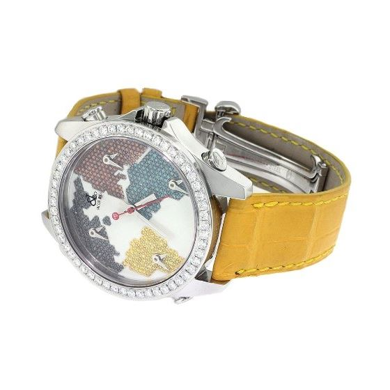 Jacob Co. Yellow Band Five Time Zone World Map 4-2