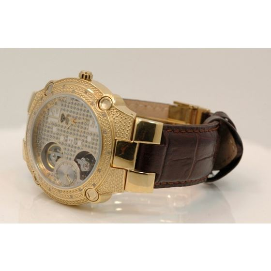 Aqua Master Mens Automatic Diamond Watch 0.20ctw W212 2