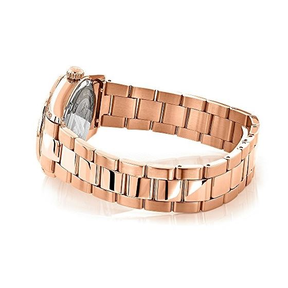 Rose Gold Plated Diamond Watch For Women Tribeca-2