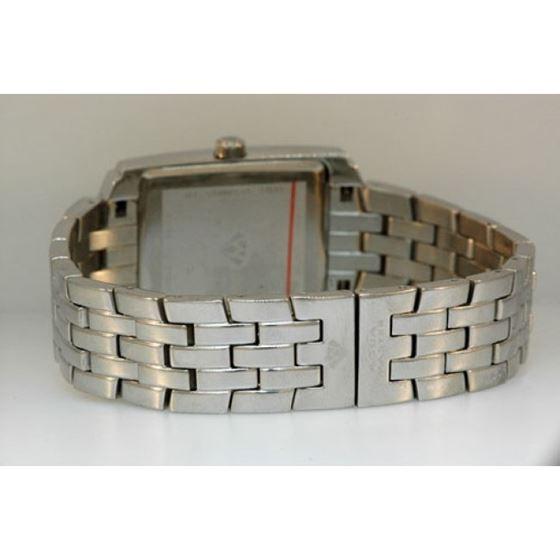 Aqua Master Swiss Classica Square 1.50 ct Diamond Mens Watch W308-WB 2