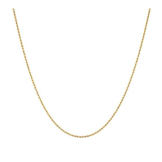 10K Yellow Gold 2.7mm Wide Hollow Rope Chain Necklace with Lobster Clasp (22 inches) 2