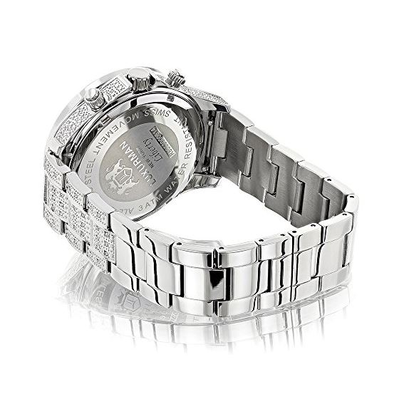 Iced Out Mens Diamond Watch 1.25Ctw Of Diamonds-2