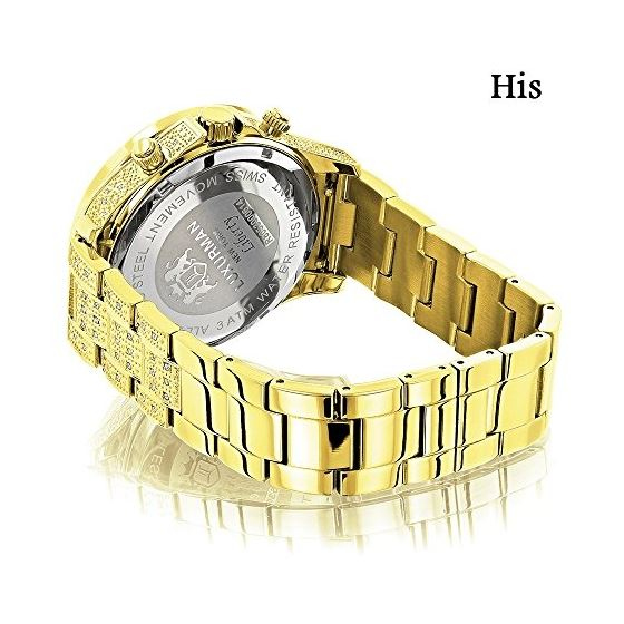 His And Hers Watches: Diamond Watch Set Yellow G-2