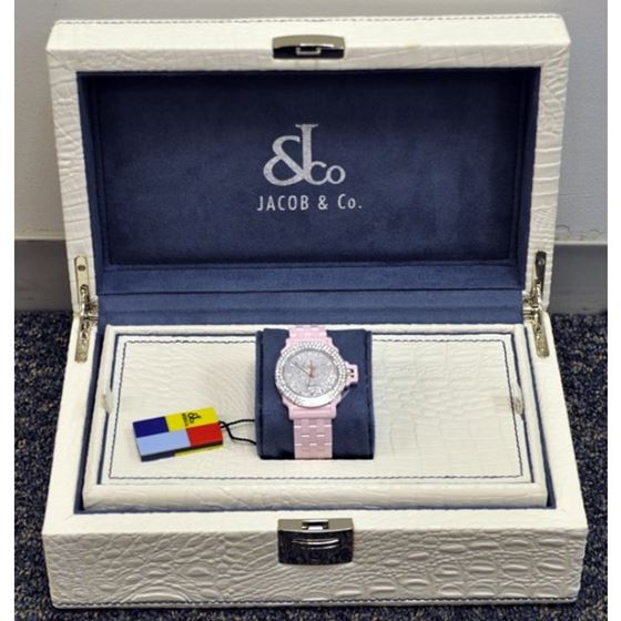 Jacob  Co Ceramic Unisex Diamond Watch J 54253 4