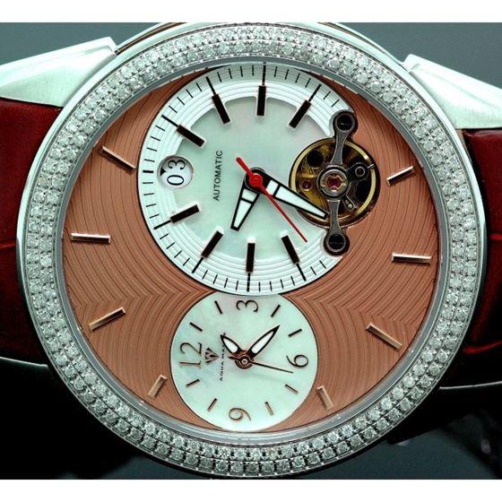 Mens Aqua Master Diamond Automatic Yellow Watch 1.75 ct w-317c 2