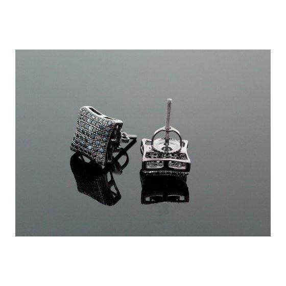 Sterling Silver Unisex Fashion Hand Set Stud Earrings ME0217 2