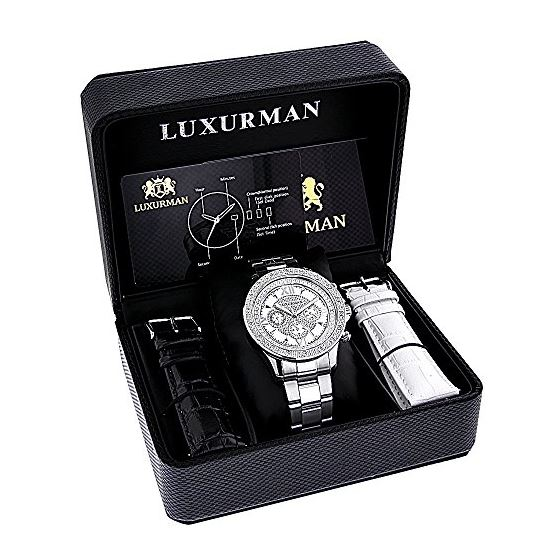 Luxurman Liberty Watches: Mens Real Diam 90663 4