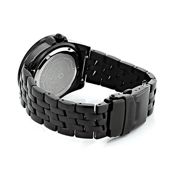 Black Mens Centorum Real Diamond Watch 0 89593 2