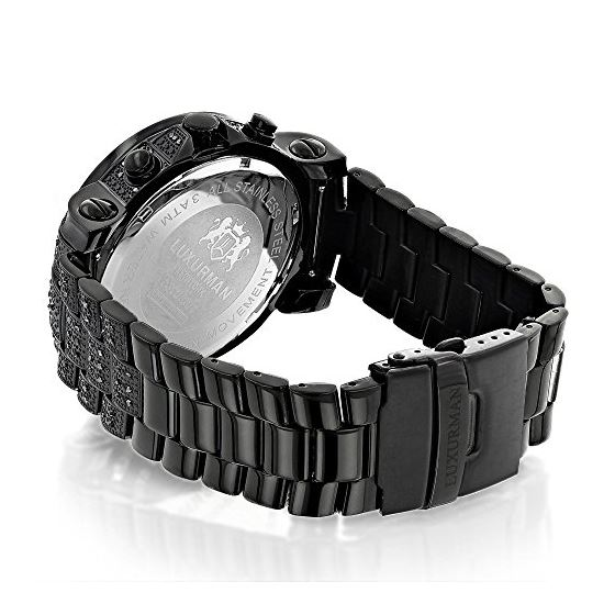 Oversized Iced Out Black Diamond Mens Watch By 2-2