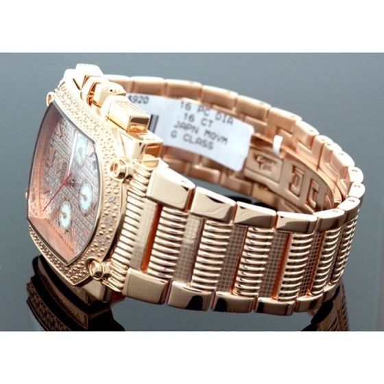 Agua Master 0.16ctw Mens Diamond Watch w 55495 2