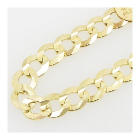 Mens 10k Yellow Gold figaro cuban mariner link bracelet 8.5 inches long and 7mm wide 2