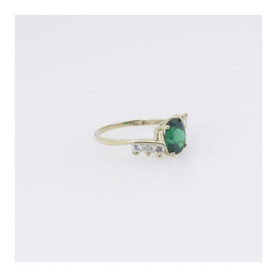 10k Yellow Gold Syntetic green gemstone ring ajr8 Size: 8 4