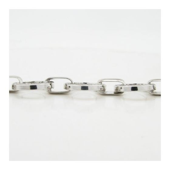 Sterling silver greek key round link bracelet SB106 7.25 inches long and 13mm wide 4