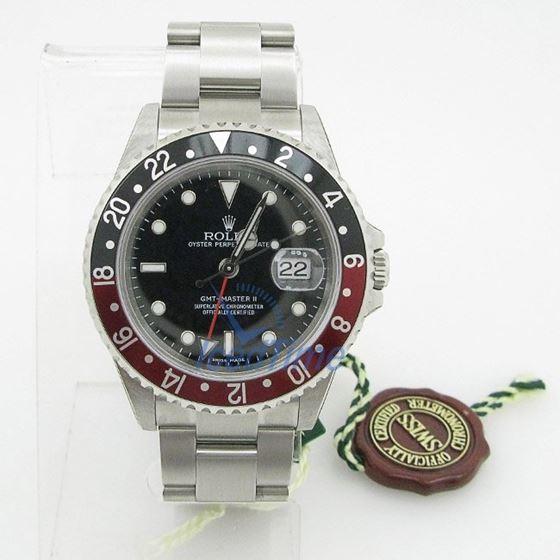 """Rolex GMT Master II Black Dial """"""""Coca Co 53968"