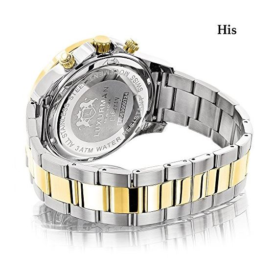 Matching Watches For Couples Two-Tone Yellow Gol-2