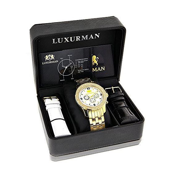 LUXURMAN Diamond Watches Mens Diamond Watch 0.25-4