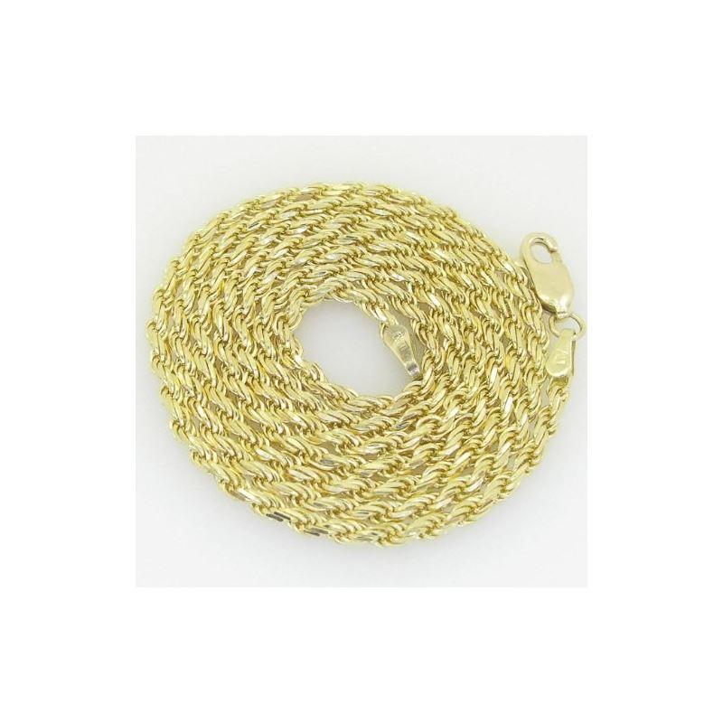 10K Yellow Gold rope chain GC1 61536 1