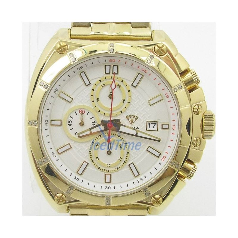 Mens Aqua Master Iced Out Diamond Watch  50734 1