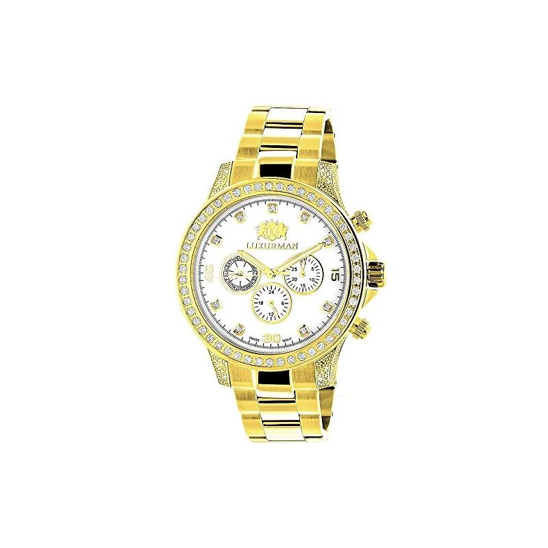 Large Diamond Bezel Watch By 2.3Ctw Of Diamonds By