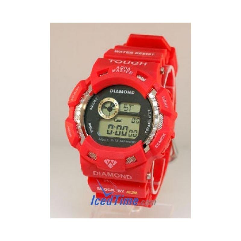 Aqua Master Shock Red Diamond Watch 92287 1