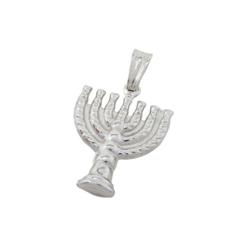 Candle menorah silver pendant SB58 29mm  72929 1