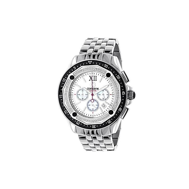 Centorum Falcon Mens Real Diamond Watch  89667 1