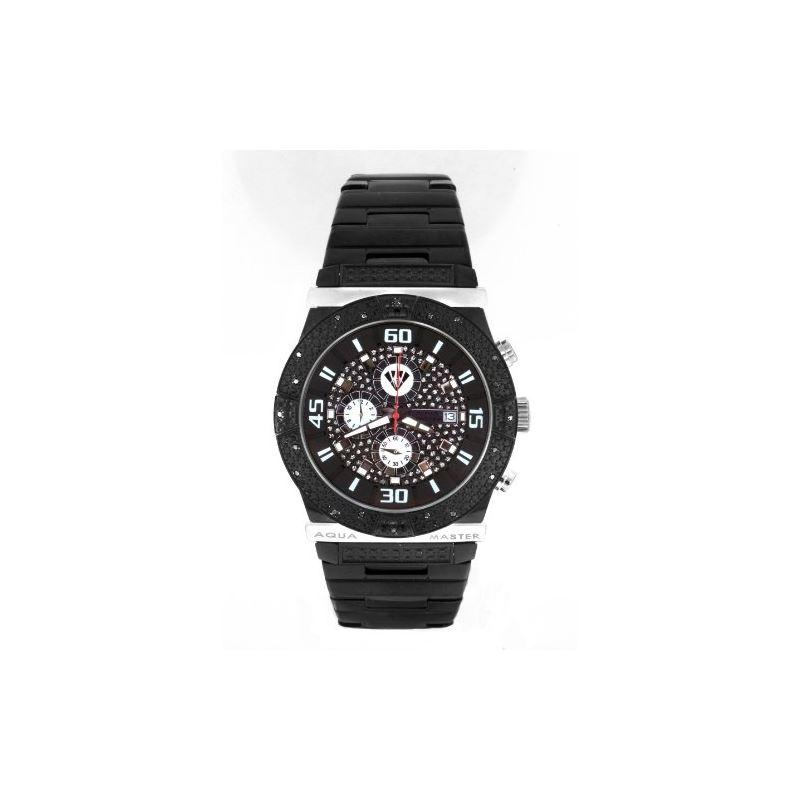 Men's Ocean Series Black-PVD Stainless Steel W