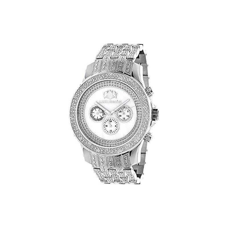 Luxurman Genuine Diamond Watch for Men 1 90390 1