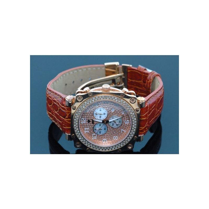 Aqua Master Mens Rose Gold Mens Diamond  54577 1