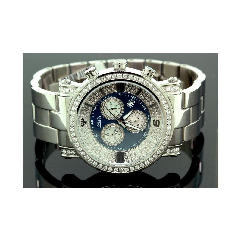 Aqua Master Diamond Mens Watch 3.60ct w1 55778 1