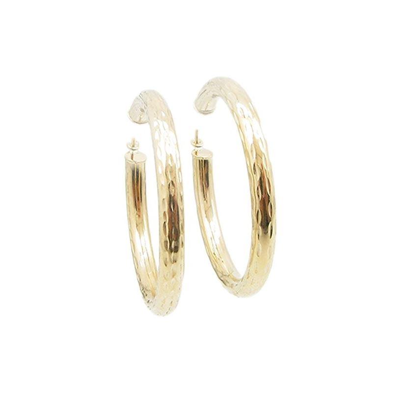 10k Yellow Gold earrings Mini diamond cu 60714 1